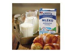 Madeta Jihočeské mléko trvanlivé polotučné 1,5% 1 l