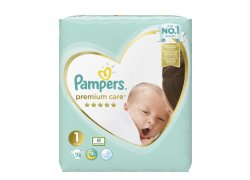 Pampers Premium Care vel. 1 (2kg-5kg) 78ks