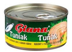 Giana Tuňák kousky v oleji a nálevu 185 g