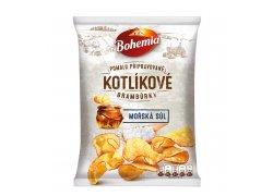 Bohemia Kotlíkové brambůrky mořská sůl 120 g