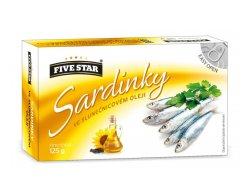 Five Star Sardinky ve slunečnicovém oleji…