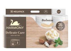 Harmony Delicate Care Balsam Shea Butter Toaletní papír 3 vrstvý 16ks