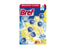 Bref Power Aktiv Fragrance Boost Lemon tuhý WC blok 3x50 g