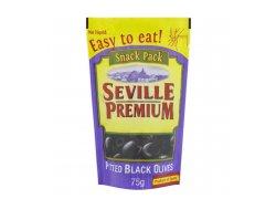 Seville Premium Černé olivy bez pecky 75 g