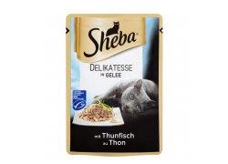 Sheba Kompletní krmivo pro dospělé kočky tuňák v želé 85 g