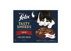 Felix Tasty Shreds hovězí, kuře, kachna,…