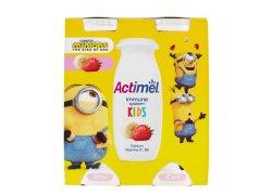 Danone Actimel Kids Probiotický nápoj banán a jahoda 4x100 g