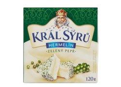 Král Sýrů Hermelín zelený pepř 120 g
