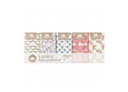 Harmony Ladies' light perfumed papírové kapesníky 3 vrstvy 10x10ks