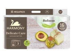 Harmony Delicate Care Balsam Avocado Butter Toaletní papír 3 vrstvý 16ks