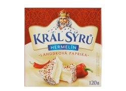 Král Sýrů Hermelín lahůdková paprika 120 g