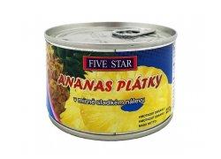 Five Star Ananas plátky v mírně sladkém…